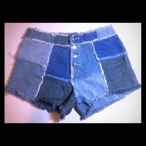 Vintage Zana-di Denim Patch shorts size 11/12